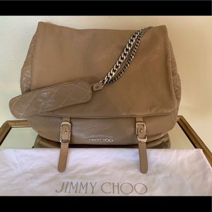 Jimmy Choo Leather Satchel Tan/Beige